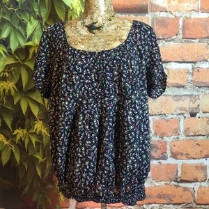 Pure Energy Tops - Calico Floral Print Top Blouse Pure Energy 3 Cute!